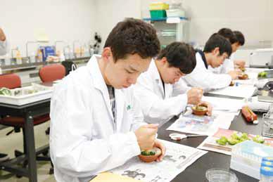 1年次生の「自然科学基礎実験ⅡA」でブロッコリーからDNAを抽出する実験