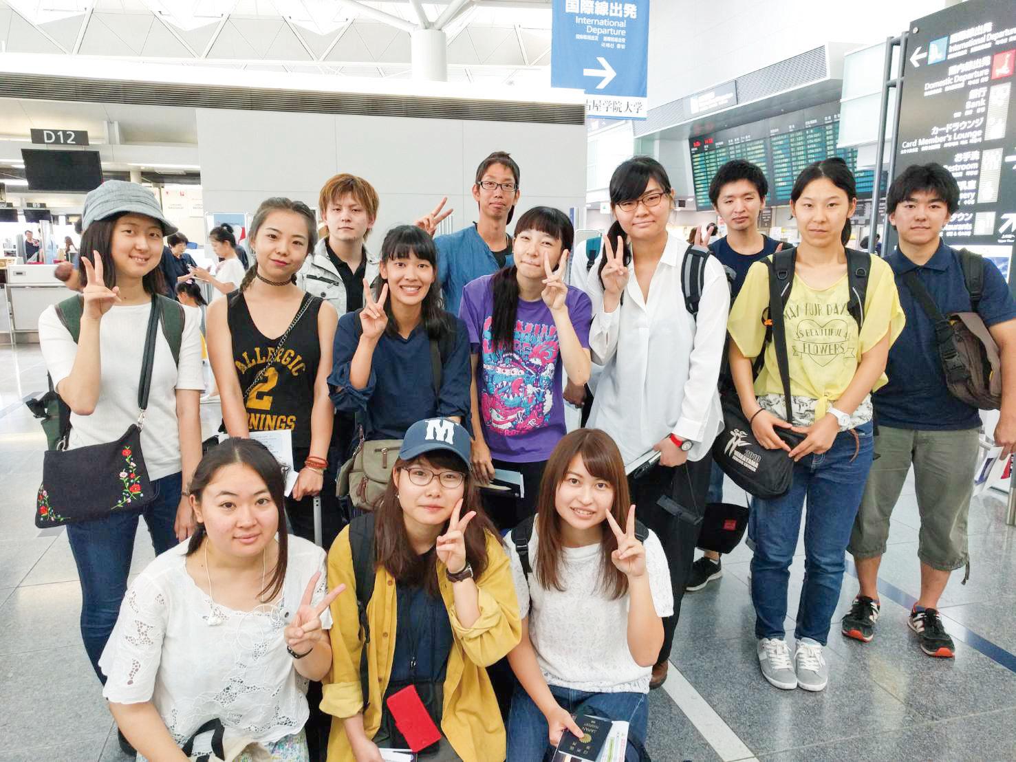 西オーストラリア大学への短期留学参加者